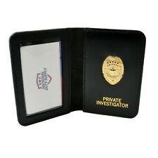 Private Investigator ID Wallet Detective PI Courtesy Badge License Card Holder