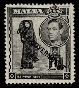 MALTA GVI SG243, 1s black, M MINT.