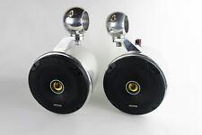 "Kicker Wakeboard Tower Speakers 6.5"" - NEW-Polished !! UTV, JEEP, RZR, CART"