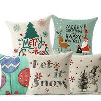 Lujo Funda de Cojínes Funda d Almohada Feliz Navidad Santa Casa Decoración Coche