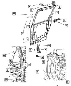 Genuine MOPAR Sliding Door Hinge Upper 5020899AH
