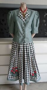 German Austrian Authentic Trachten Skirt and Blouse Outfit 8