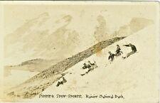 Mt Rainier National Park Wa Summer Snow Sports Rppc 1928