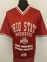 Ohio State Buckeyes 2002 Football National Champions Red Shirt Jersey XXL