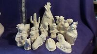 Native 17piece Nativity Ceramic Bisque, Ready To Paint