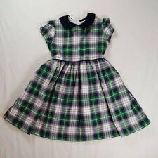 Bella Bliss 6 Dress Grace Tartan Green Navy Corduroy School Holiday Traditional
