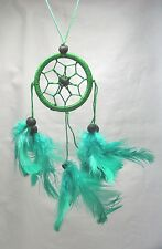 Dark Green Dreamcatcher, Handmade, Hand on the rear view mirror, Window, Fan