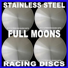 "15"" FULL MOON HOT ROD RACING DISC HUB CAPS SOLID WHEEL COVERS RIMS New Set of 4"