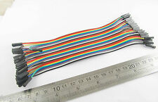2.54mm 1P-1P Female To Female Pin Header 20cm Dupont Wire Colorful Cable 40pcs