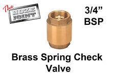 "Spring Check Valve - 3/4"" (20mm) - Brass - One Way Valve"