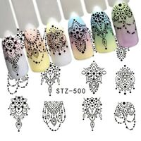 Nail Art Retro Charming Decoration Stickers nails Decal black Jewelry STZ-500
