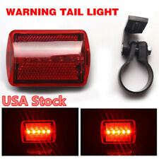 ABS Bicycle Rear Lamp Red Bike Tail Light 5LED Flash Warning Powered Light USA