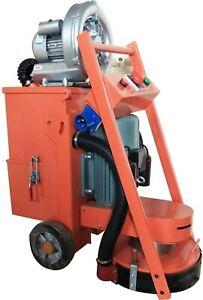 220V Hand-push Concrete Floor Grinder Cement Ground Polishing Machine Vacuum Fan