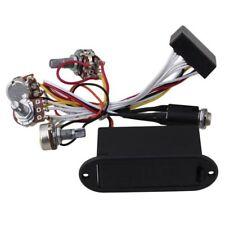 2 Band Active Bass Guitar EQ Equalizer Preamp Circuit Pickup Black V5U3