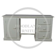 HAND MADE DEWSBURY 3 DRAWER AND 1 DOOR DRESSING TABLE IN WHITE (ASSEMBLED)