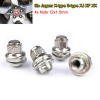 4x Jaguar X-type / S-type XJ XF XK Alloy Wheel Nuts Bolts 12x1.5mm Flat QUALITY
