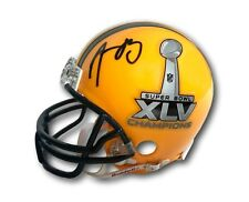 AARON RODGERS SIGNED GREEN BAY PACKERS SB XLV MINI HELMET COA MOUNTED AUTOGRAPH