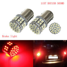 2x 1157 BAY15D 50 LED SMD P21/5W 380 Car Brake Tail Stop Light Lamp Bulb Red