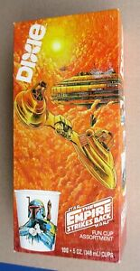 STAR WARS DIXIE CUPS FULL BOX Unopened SEALED 5oz Cups Boba Fett Empire Strikes