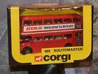 DIE CAST CORGI 469 ROUTEMASTER BUS LONDON TRANSPORT BTA WELCOME TO BRITAIN