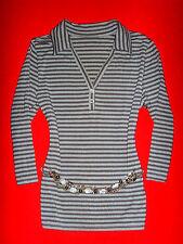 H&m Shirt Camicia Maritim romanticismo Boho Striscia 40 NUOVO!!! TOP!!!