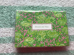NEW Sealed LILLY PULITZER Stuck On You Desert Tort Set Of Sticky Notes