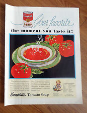1935 Campbell's Tomato Soup Ad  Your Favorite  1935 Swans Doun Cake Flour Ad