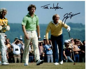 JACK NICKLAUS and TOM WATSON signed autographed PGA GOLF photo