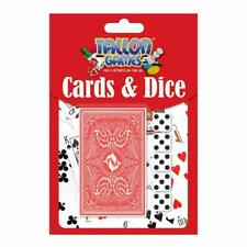 Professional Pack Playing Cards & Dice - Poker Plastic Coated Game Classic Party