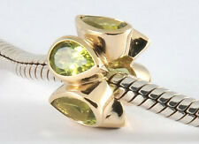 Bd032 Authentic Genuine 9ct Solid Yellow Gold NATURAL Peridot HUGE Bead Heavy