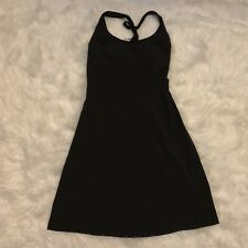 Athleta Pack Out Halter Dress Sz 4 Black Featherweight Travel Upf Athletic 50+