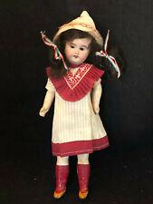 Poupée Ancienne Tête Porcelaine Avec ses Vêtements Antique French Doll