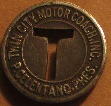 1943 Twin City Motor Coach Inc. Sterling, IL Transit Bus Token - Illinois
