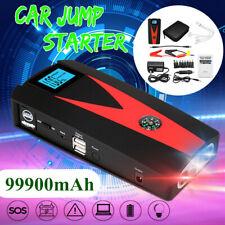 99900mAh 12V Car Jump Starter Charger Portable Battery Emergency Power Bank 2USB