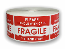 Please Fragile Handling Care Shipping Caution Stickers 2x3 1000 Labels