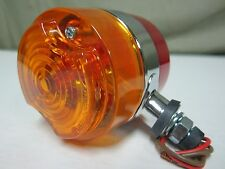 "NEW ROADPRO RP3220 3"" Double-Face Light Assembly Amber/Red Lens 12V Light 2 Wire"