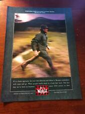 1990 VINTAGE 8X11 PRINT Ad FOR WOOLRICH CLOTHING NO NEED TO START/FOLLOW TRENDS
