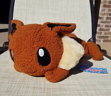 "Japanese Pokemon 18"" Eevee plush doll Gyutto tissue cover fuzzy laying huge big"