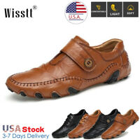 Mens Oxfords Genuine Leather Casual Shoes Soft Sole Breathable Loafers Moccasins