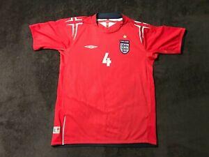 England 2004 2006 away UMBRO Shirt Jersey Football Camiseta kids L GERRARD