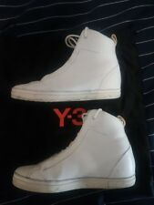 Y-3 White leather high top sneakers size 7 US