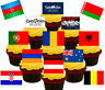Eurovision Party! 48 Edible Standup Cup Cake Toppers, Flags Buns Fairy Holland