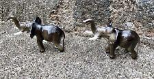 Pair Of Hagen Renaker Mama Elephants #263 Glossy Miniature Ceramic Figurines