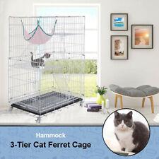 3-Tier Cat Ferret Cage Portable Cat Home Fold Pet Cat Cage Playpen