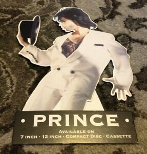 """PRINCE & NPG 1991 UK Cream Stand-Up Store Counter Display 7"""" 12"""" CD Cassette"""