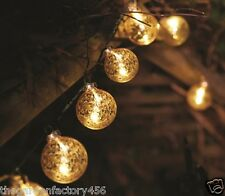 String Lights Bed Bedroom Decoration Fairy Gold Stellar Glass Bauble Battery