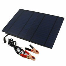 10W 12V Solar Powered Cell Panel Board For Car Boat Battery Charger