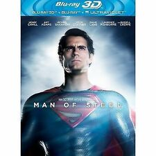 MAN OF STEEL - BLU RAY 3D + 2D - NEW / SEALED - SUPERMAN