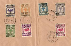 ALBANIA 1919 Cat.Gimjani 103-109 Set in Cover - VERY RARE