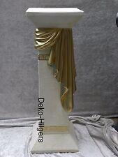 Säule Creme Gold Blumensäule Medusa Tisch Modern Podest Stuckgips 1038  F141